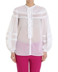 N°21 - Shirt With White Ruffles - Lyst