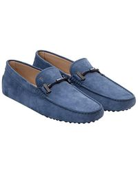 Tod's - Nabuk Loafers - Lyst