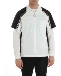 Off-White c/o Virgil Abloh - Black And White Cotton Shirt - Lyst