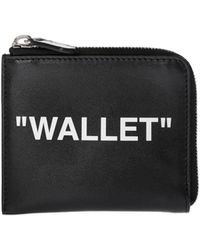 Off-White c/o Virgil Abloh - Black Quote Coin Purse - Lyst