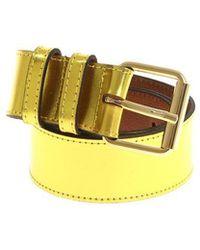 Essentiel - Yellow Laminated Belt - Lyst