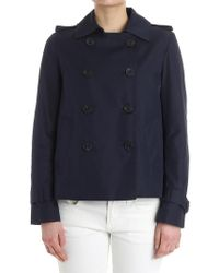 Tommy Hilfiger - Blue Double-breasted Jacket - Lyst