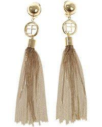 Elisabetta Franchi - Drop Earrings With Fringes - Lyst