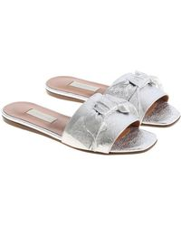 L'Autre Chose - Silver Slippers With Bow - Lyst