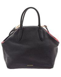 8384e7676dac8 Lulu Guinness Chloe Kissing Cameo Top Handle Bag in Black - Lyst