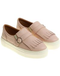 Moreschi - Pink Slip On With Buckle And Fringes - Lyst