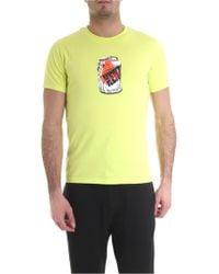 KENZO - T-shirt girocollo verde lime stampa lattina - Lyst