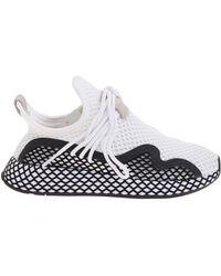 f2522bf3d654f Lyst - adidas Originals Pink Deerupt Runner W Sneakers in Pink