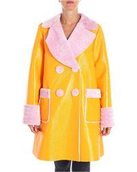 Vivetta - Orange Lemaire Coat With Shiny Effect - Lyst