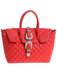 Mia Bag - Red Shoulder Bag With Buckle - Lyst