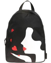 Lulu Guinness - Black Kissing Cameo Backpack - Lyst