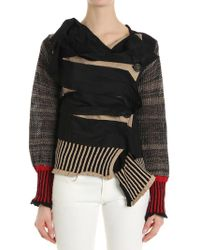 Vivienne Westwood Anglomania - Concordia Cardigan With Raw-cut Inserts - Lyst