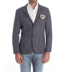 AT.P.CO - Cotton And Wool Jacket - Lyst