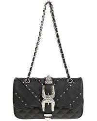 Mia Bag - Black Shoulder Bag With Buckles - Lyst