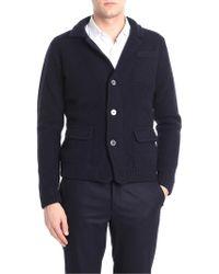Zanone - Dark Blue Wool Jacket - Lyst