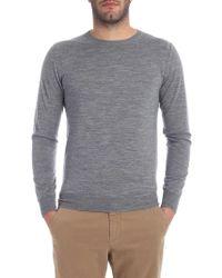 Paolo Pecora - Grey Melange Crew Neck Pullover - Lyst
