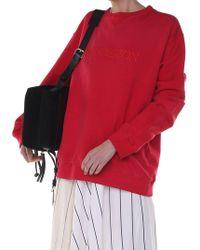JW Anderson - Crewneck Red Unisex Sweatshirt With Logo - Lyst