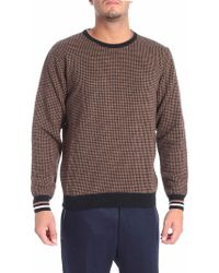 Altea - Brown And Black Houndstooth Pullover - Lyst
