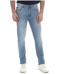 Trussardi - 370 Slim Fit Jeans In Light Blue - Lyst
