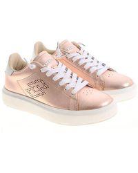 Lotto Leggenda - Laminated Pink Impressions Sneakers - Lyst