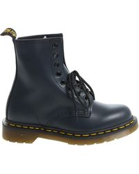 """Dr. Martens - """"1460 Smooth"""" Blue Ankle Boots - Lyst"""