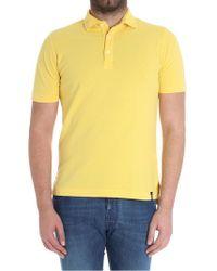 Drumohr - Yellow Cotton Pique Polo - Lyst