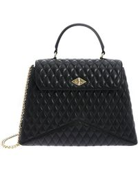 Ballantyne - Diamond Black Bag In Genuine Leather - Lyst
