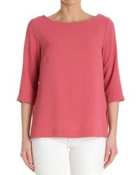 Ottod'Ame - Pink Three-quarter Sleeves Top - Lyst