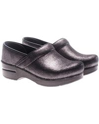 Dansko - Black Metallic Leather Clogs - Lyst