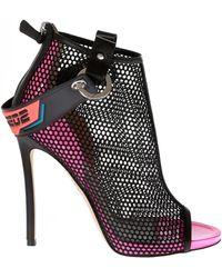 794e8426e939 Lyst - Gianvito Rossi Black Sandasl With Lace Inserts in Black