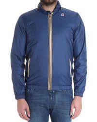 K-Way - Blue Philippe Jacket - Lyst