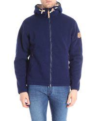 Fjallraven - Blue Polar Fleece Wool Blend Jacket - Lyst