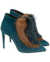 Loriblu - Suede Ankle Boots - Lyst