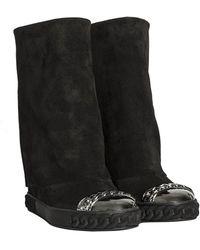 Casadei - Suede Boots - Lyst