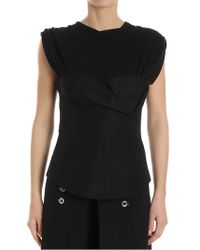 Alexander Wang - Black Top With Bodice - Lyst