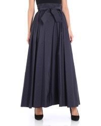 Max Mara - Flared Spotted Bow Detail Skirt - Lyst
