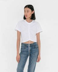 T By Alexander Wang - High Twist Short Sleeve Tee - Lyst