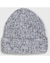 T By Alexander Wang - Marled Chunky Cotton Mohair Blend Beanie - Lyst