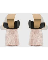 Lizzie Fortunato - Blush Totem Tassel Earrings - Lyst