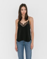 Zadig & Voltaire - Noir Christy Lace Camisole - Lyst