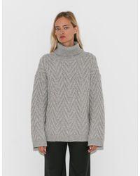 Nili Lotan - Light Grey Melange Ronnie Sweater - Lyst