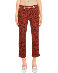 Miaou Tommy Animal Cotton Jeans - Red