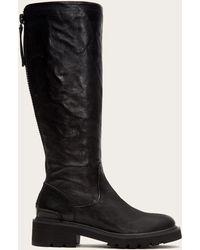 Frye - Allison Tall Back Zip Boots | Frye Since 1863 - Lyst