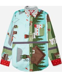Engineered Garments - Natural Lake Bear Print Bd Shirt - Lyst
