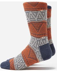 Anonymous Ism - Mountain Range Crew Socks - Lyst