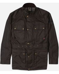 a45543afe14 Lyst - Belstaff Racing Red Waxed Cotton Roadmaster Jacket in Red for Men