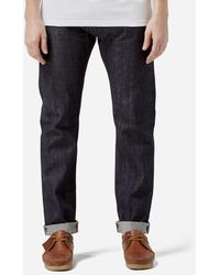 Edwin - Ed-80 Slim Red Listed 14oz Selvage Denim Unwashed - Lyst