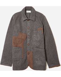 Universal Works - Mowbray Oversized Patched Bakers Jacket - Lyst