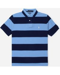 3dd882946 Polo Ralph Lauren Custom-Fit Striped Rugby Shirt in Blue for Men - Lyst