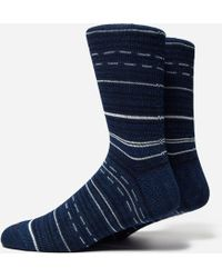 Anonymous Ism - Indigo African Stripe Socks - Lyst